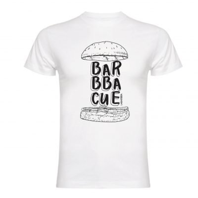 Camiseta BBQ LaBarbba blanca