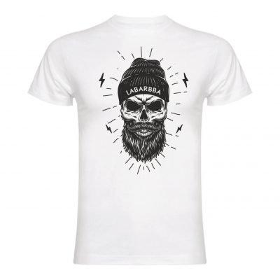 Camiseta labarbba calavera gorro