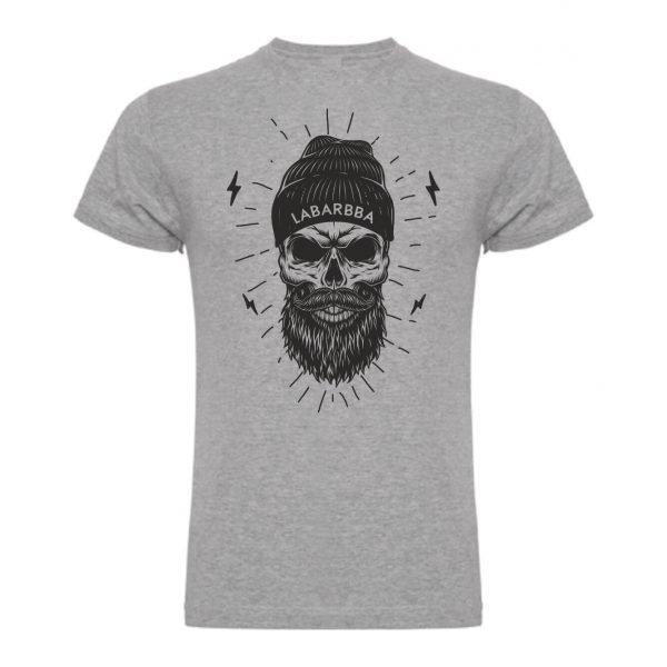 camiseta calavera labarbba gris