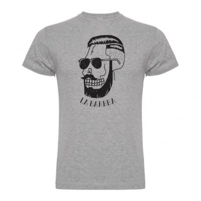 camiseta calavera mexicana gris