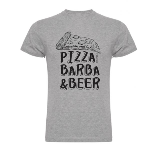 Camiseta Pizza Barba & Beer LaBarbba